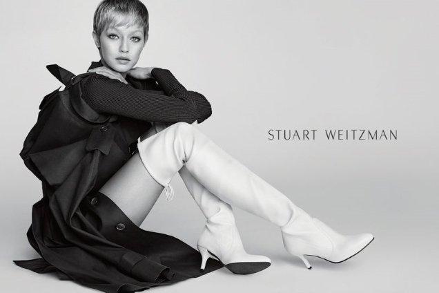 Stuart Weitzman F/W 2017.18 : Gigi Hadid by Mario Testino