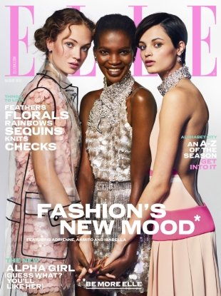 UK Elle August 2017 : Adrienne, Aamito & Isabella by Liz Collins
