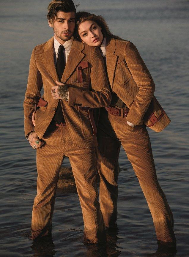 US Vogue August 2017 : Gigi Hadid & Zayn Malik by Inez & Vinoodh