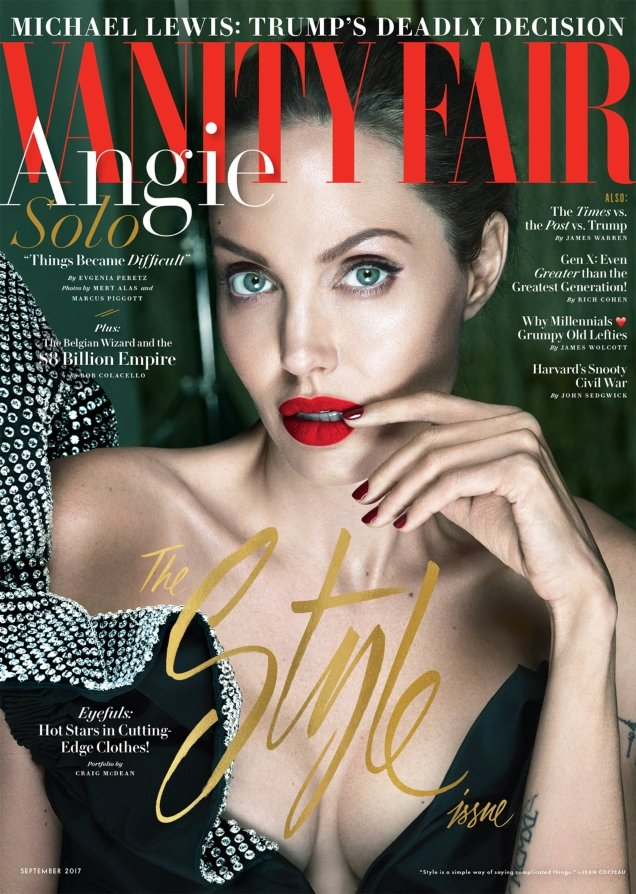 Vanity Fair September 2017 : Angelina Jolie by Mert Alas & Marcus Piggott