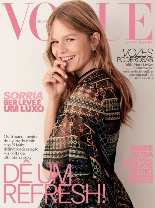 Vogue Brazil August 2017 : Anna Ewers by Giampaolo Sgura