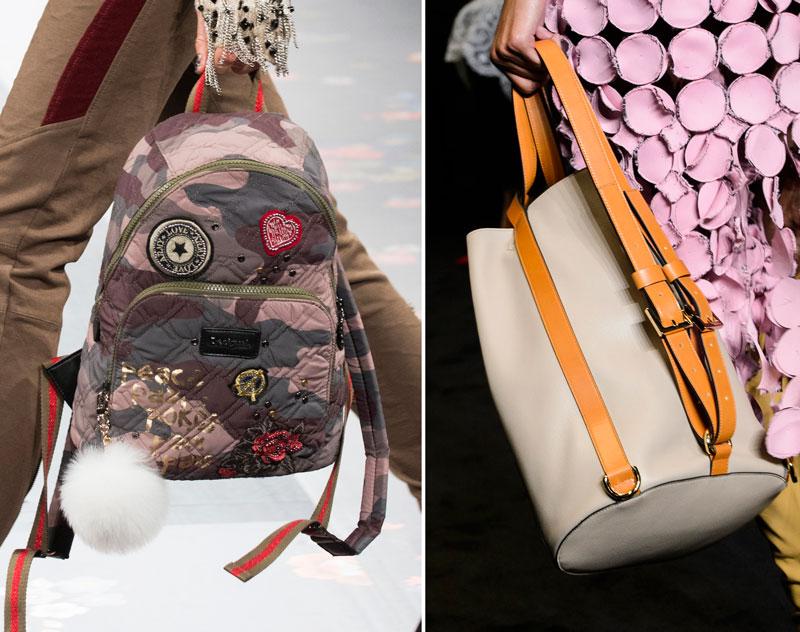 Backpacks on the Desigual and Loewe Fall 2017 runways
