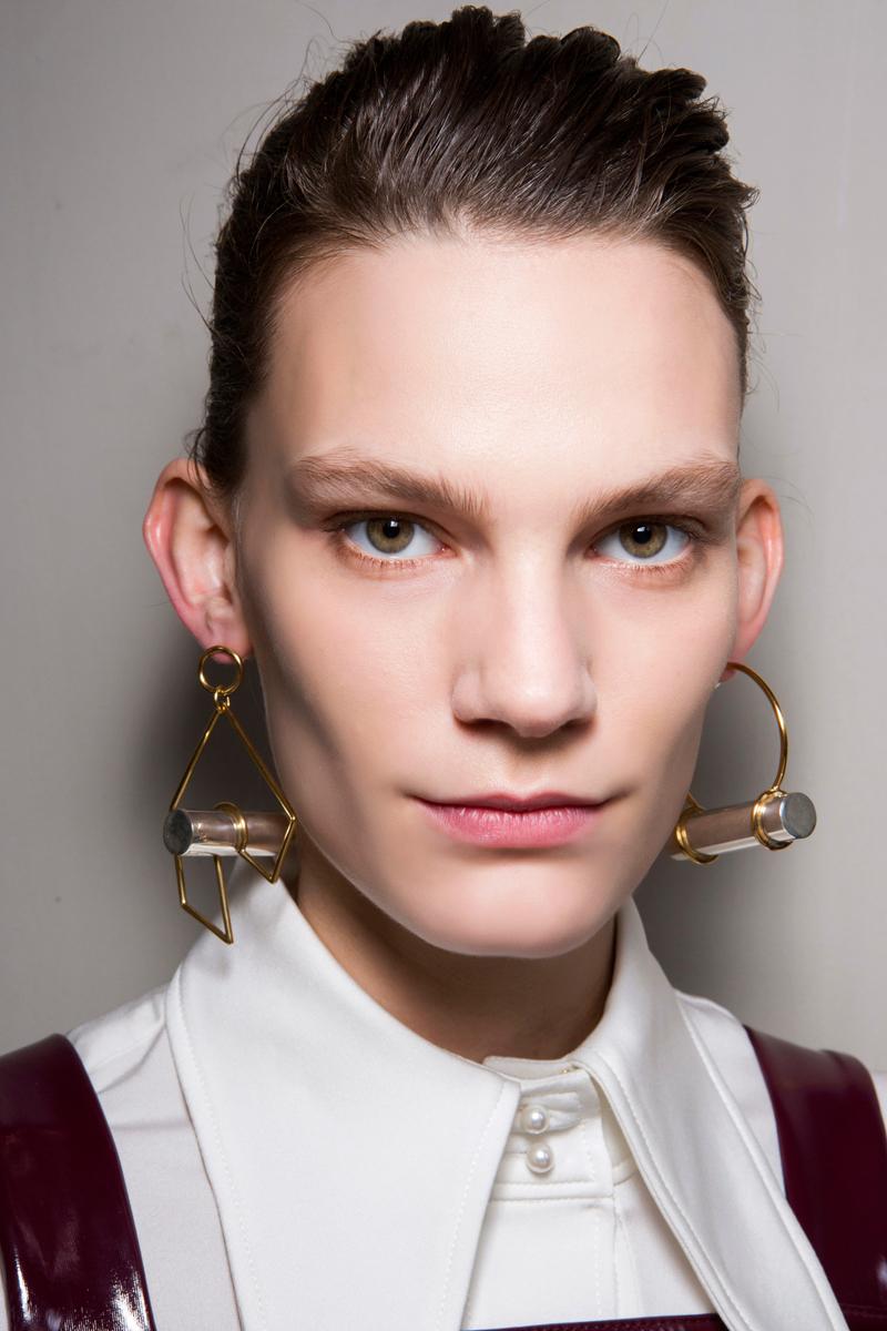 sculptural earrings from the Ellery Fall 2017 runway
