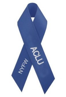 The #FashionforACLU ribbon.