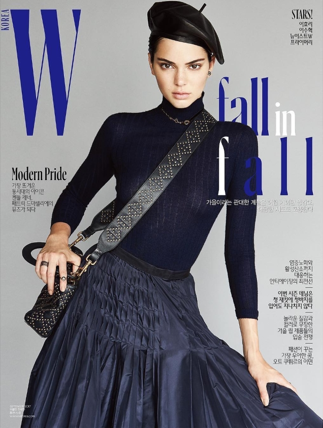 W Korea September 2017 : Kendall Jenner by Patrick Demarchelier