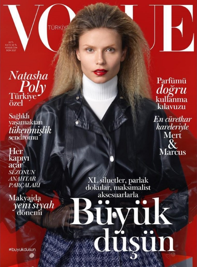 Vogue Turkey October 2017 : Natasha Poly by Blommers & Schumm