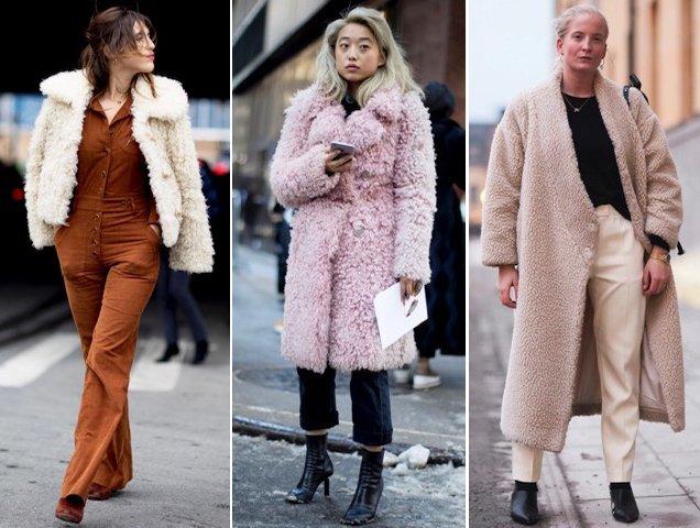 Street stylists sporting teddy jackets.