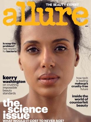 Allure November 2017 : Kerry Washington by Sharif Hamza