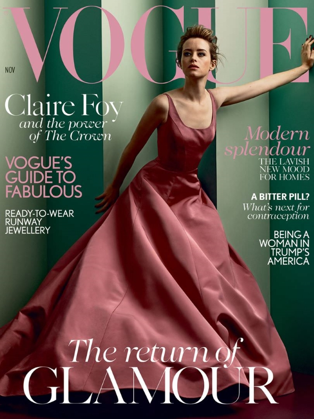 UK Vogue November 2017 : Claire Foy by Craig McDean