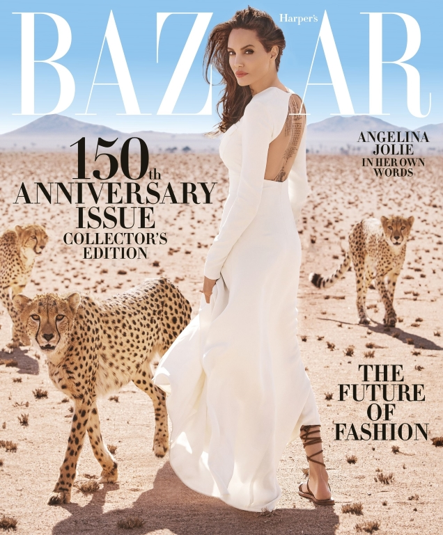 US Harper's Bazaar November 2017 : Angelina Jolie by Alexi Lubomirski