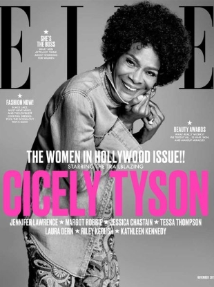 US Elle November 2017 : The Women In Hollywood Issue by Terry Tsiolis