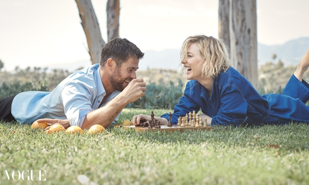 Vogue Australia November 2017 : Cate Blanchett & Chris Hemsworth by Will Davidson
