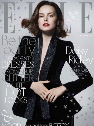 UK Elle December 2017 : Daisy Ridley by Liz Collins