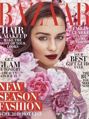 US Harper's Bazaar December 2017/January 2018 : Emilia Clarke by Mariano Vivanco