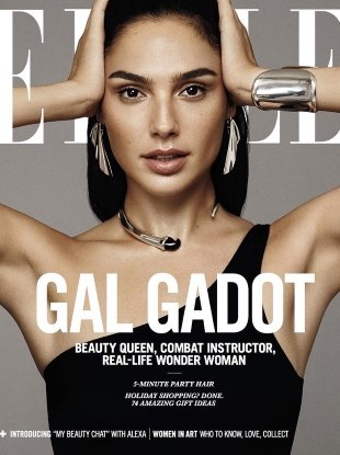 US Elle December 2017 : Gal Gadot by Paola Kudacki