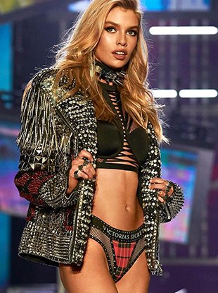 Victoria's Secret x Balmain on the runway.