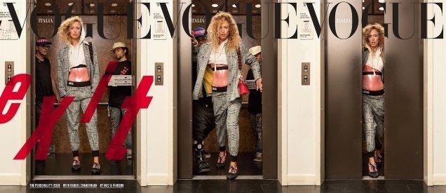 Vogue Italia November 2017 : Raquel Zimmermann by Inez & Vinoodh