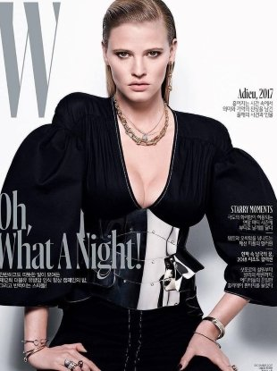 W Korea December 2017 : Lara Stone by Matt Easton
