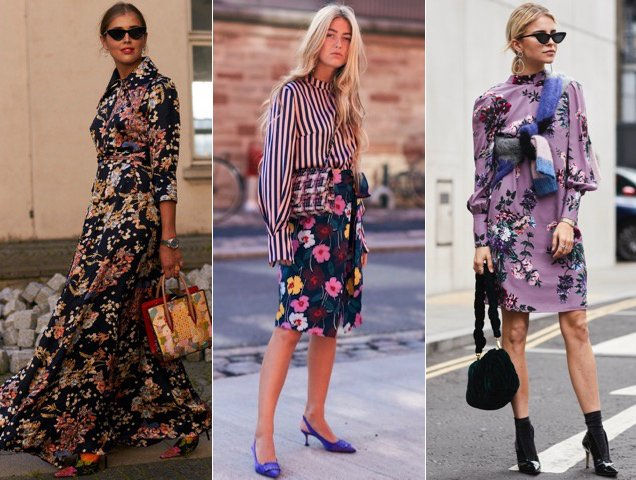 Fresh florals spotted outside the Spring 2018 shows.