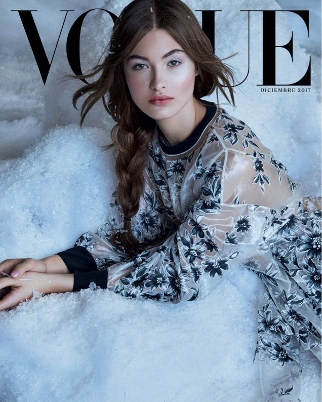 Vogue Mexico & Latin America December 2017 : Grace Elizabeth by Patrick Demarchelier