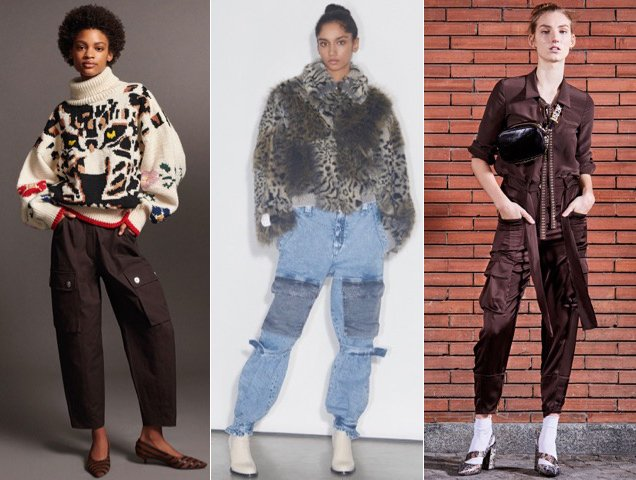 Cargos also proved popular for Pre-Fall 2018. Sonia Rykiel Pre-Fall 2018, Stella McCartney Pre-Fall 2018, Just Cavalli Pre-Fall 20