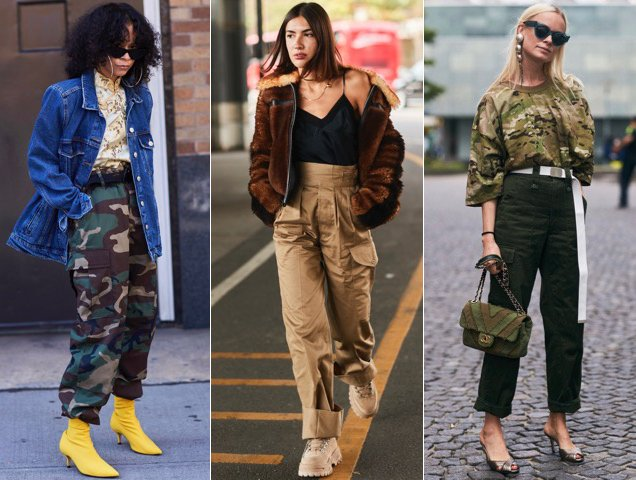 Cargo pants get the street style treatmen