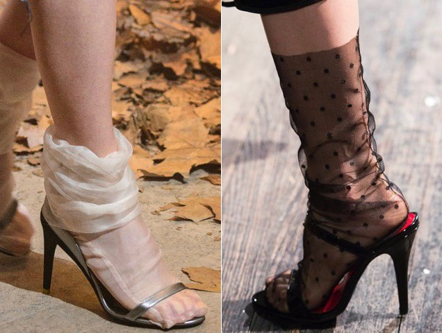 Fall 2017 sheer sock offerings.