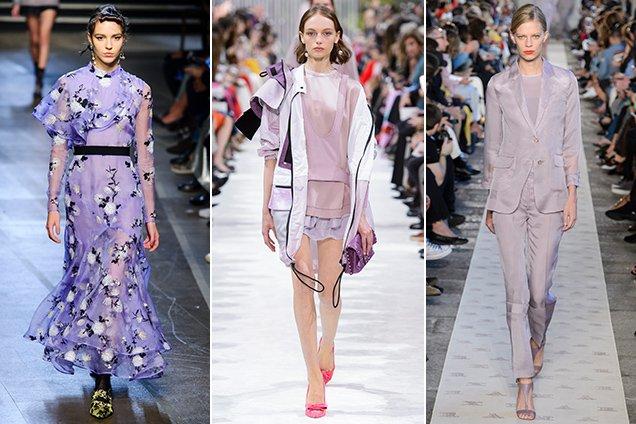 Lavender on the Spring 2018 runways. Erdem Spring 2018, Valentino Spring 2018, Max Mara Spring 2018