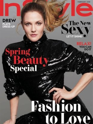 US InStyle February 2018 : Drew Barrymore by Anthony Maule