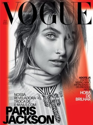 Vogue Brazil January 2018 : Paris Jackson by Jacques Dequeker