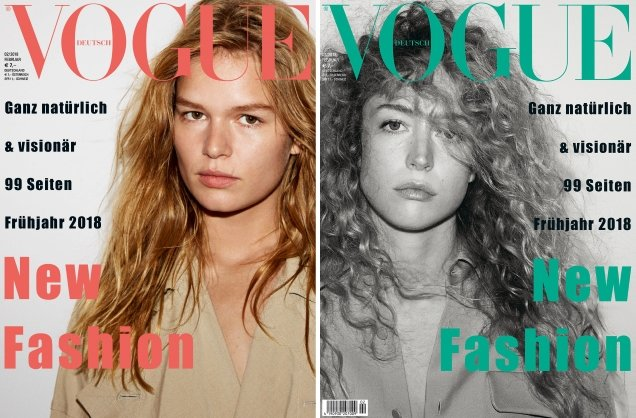 Vogue Germany February 2018 : Faretta, Anna, Raquel & Grace by Daniel Jackson