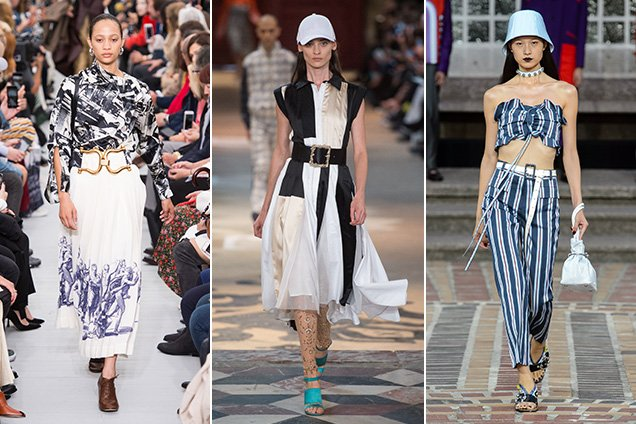 Statement belts at Céline Spring 2018, Koché Spring 2018 and Kenzo Spring 2018