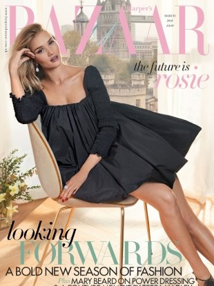 UK Harper's Bazaar March 2018 : Rosie Huntington-Whiteley by Agata Pospieszynska