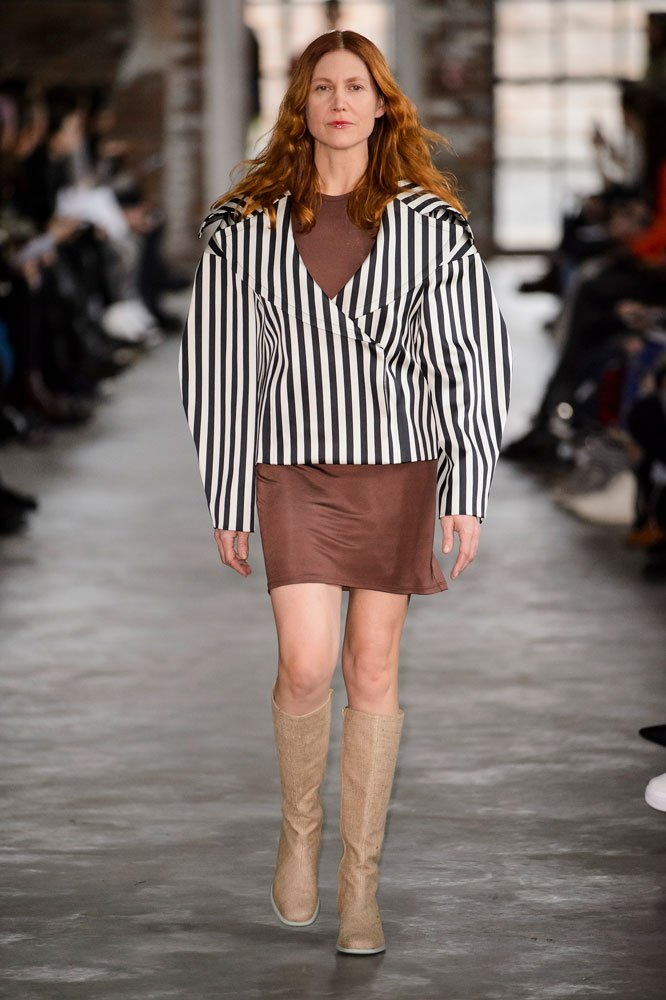 Susan Cianciolo at Eckhaus Latta Fall 2018.