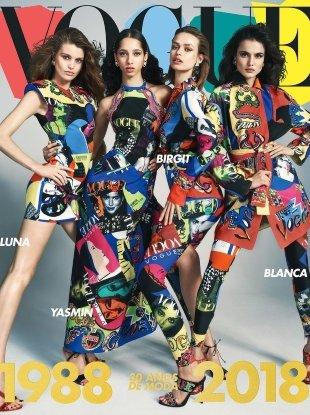 Vogue España April 2018 : Birgit, Luna, Yasmin & Blanca by Emma Summerton