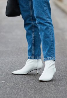White Boots Are the Street Style Secret to Transitional Dressing