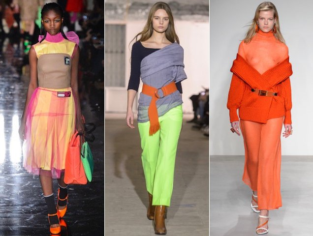 Neon also popped up for Fall 2018.