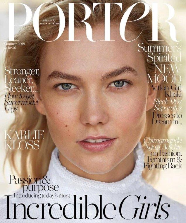 Porter #26 Summer 2018 : Karlie Kloss by Camilla Akrans