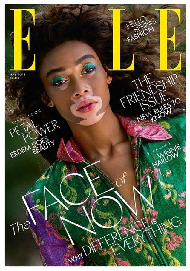 UK Elle May 2018 : Winnie Harlow by Gilles Bensimon