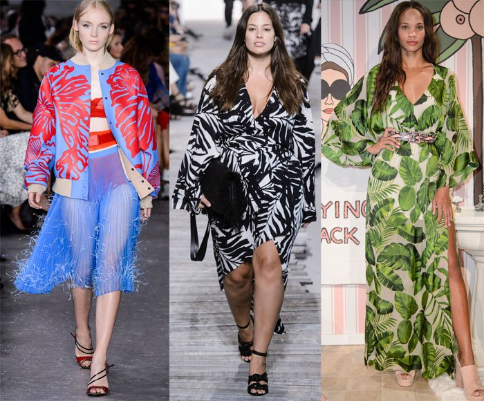 Leaf prints on the Spring 2018 runways at Nº21, Michael Kors and Alice + Olivia
