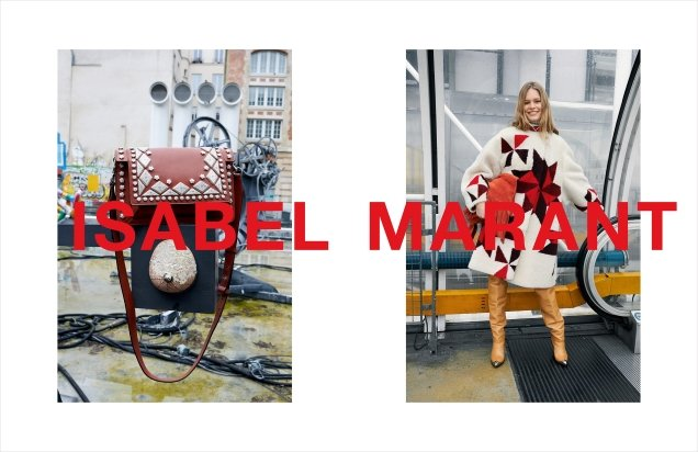 Isabel Marant F/W 2018.19 : Anna Ewers & Vittoria Ceretti by Juergen Teller