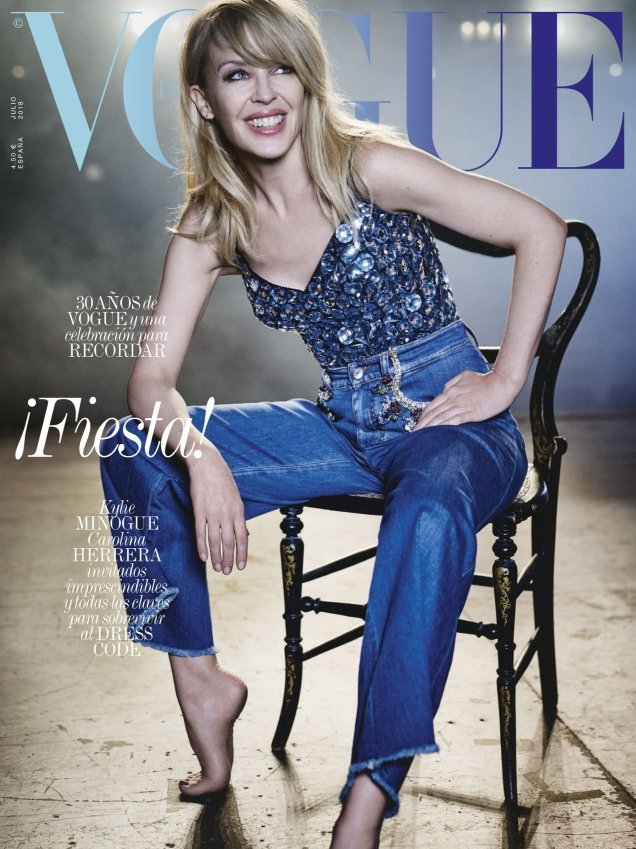 Vogue España July 2018 : Kylie Minogue by Boo George
