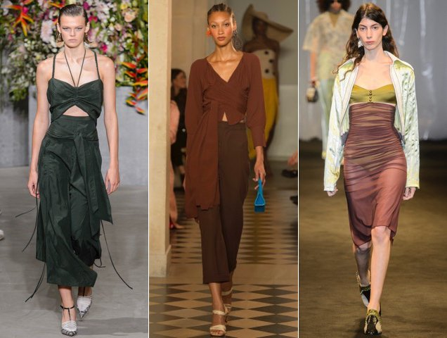 Earthy shades were a surprising trend on the Spring 2018 runways.