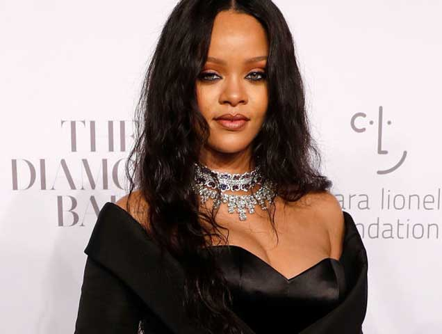 Rihanna attends the 2017 Diamond Ball at Cipriani Wall Street on September 14, 2017 in New York City