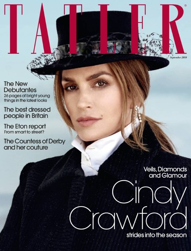 Tatler September 2018 : Cindy Crawford by Yu Tsai