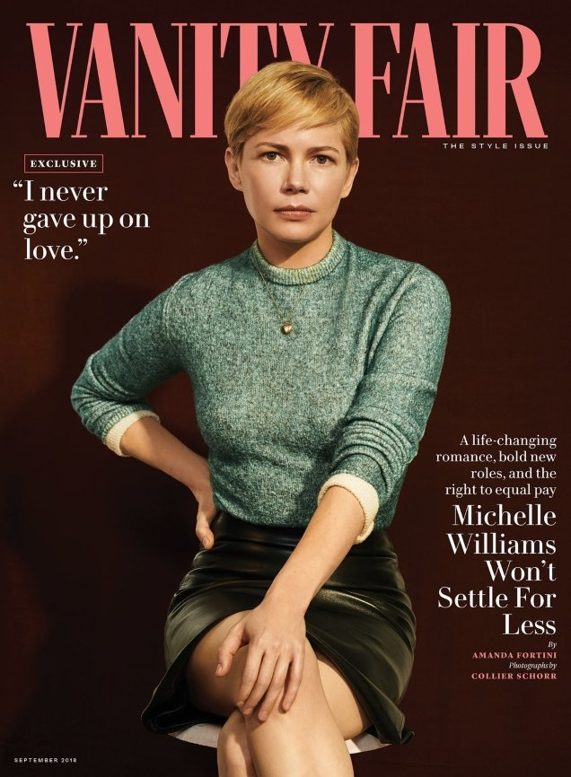 Vanity Fair September 2018 : Michelle Williams by Collier Schorr