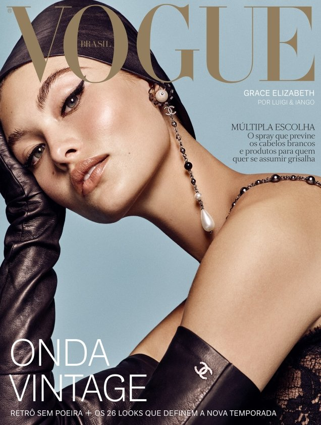 Vogue Brazil August 2018 : Grace Elizabeth by Luigi & Iango
