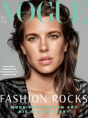 Vogue Germany September 2018 : Charlotte Casiraghi by Daniel Jackson