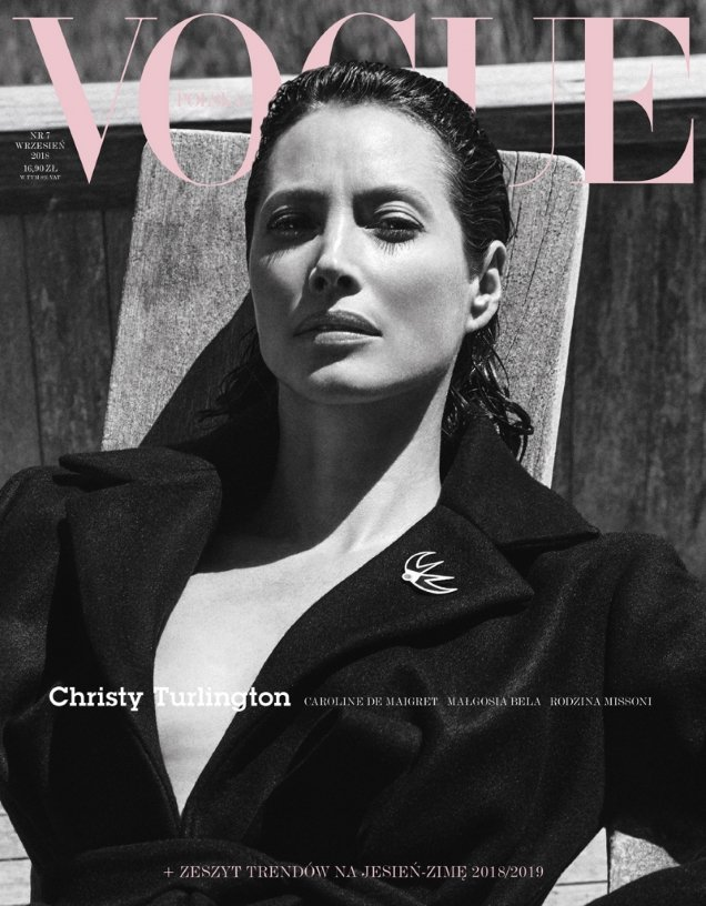 Vogue Poland September 2018 : Christy Turlington by Chris Colls
