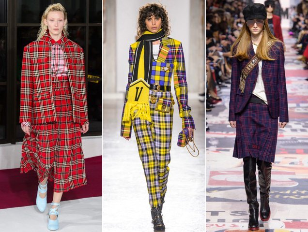 Plaid proved popular on the Fall 2018 runways.